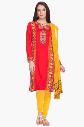 IMARAWomens Slim Fit Printed Churidar Suit - 200732838