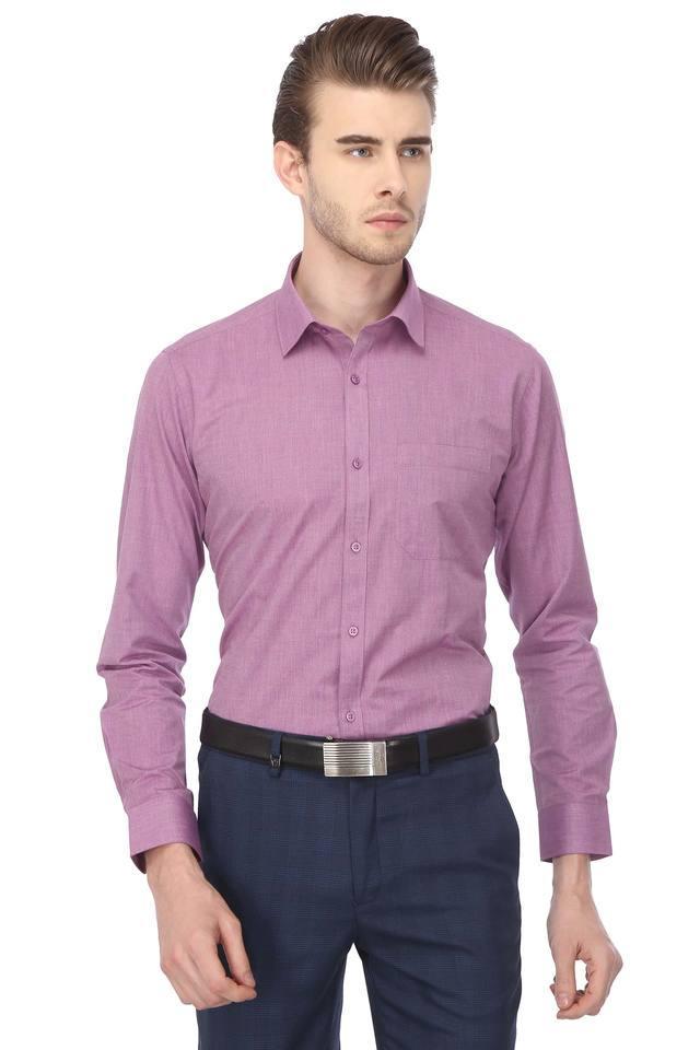 STOP - VioletFormal Shirts - Main