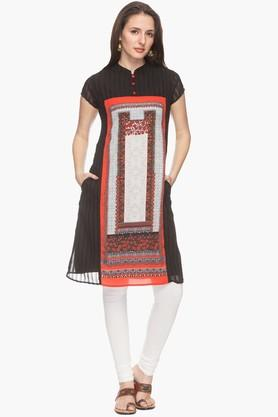 IMARA Womens Mandarin Neck Printed Kurta (Buy Worth Rs.2500 & Get Rs.500. Off) - 201766915