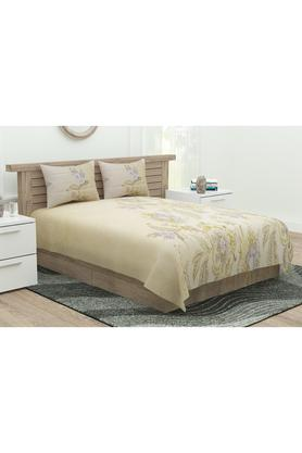 Ultima Collection Floral Print Double Bed Sheet with 2 Pillow Covers