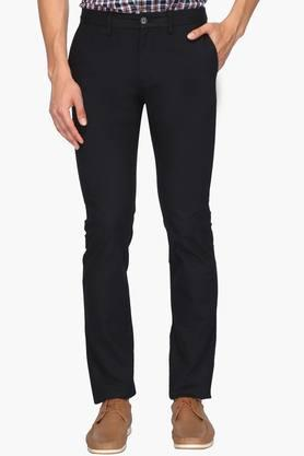 INDIAN TERRAIN Mens Slim Fit 5 Pocket Solid Formal Trousers (Brooknyl Fit)