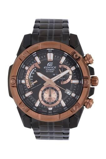 Unisex Edifice Black Dial Stainless Steel Chronograph Watch - EFR-559DC-1BV