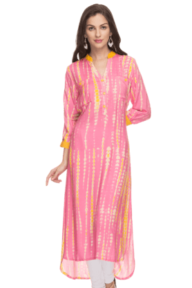 HAUTE CURRY Womens Printed Kurta - 200674591