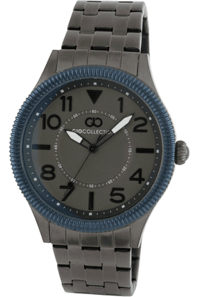 GIORDANO Gio Collection- Mens Grey Metal Strap Analog Watch- G1005-66
