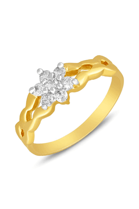 MAHI Mahi Gold Plated Luxe Finger Ring With CZ For Women FR1100639G