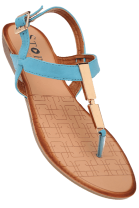 STOPWomens Blue Edela Flat Sandal