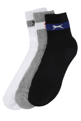 BLACK PANTHER Mens Cotton Socks (Set Of 3) - 201082659