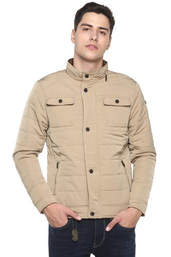 Mens High Neck Quilted Jacket