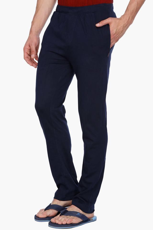 Mens 2 Pocket Solid Track Pant