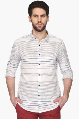 Vettorio Fratini Formal Shirts (Men's) - Mens Regular Collar Stripe Shirt