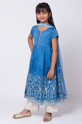 BIBA GIRLS - BlueSalwar Kurta Set - 3