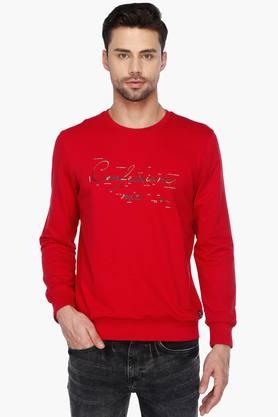 STOPMens Full Sleeves Round Neck Printed Sweatshirt - 201461215