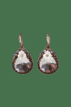 JAZZGold Plated Flower Design Stone Earring