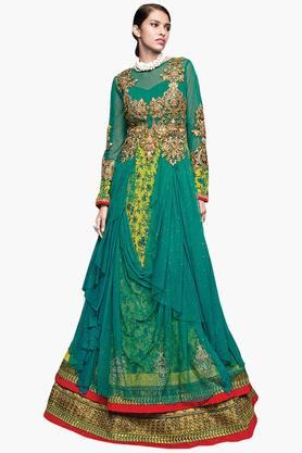 DEMARCA Women Pure Soft Net Designer Gown - 202528865_9463