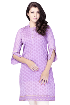 DEMARCA Womens Printed Kurta (Buy Any Demarca Product & Get A Pair Of Matching Earrings Free) - 200936861