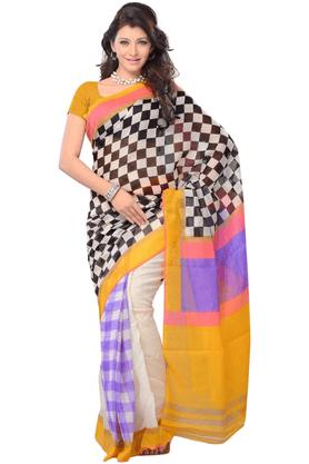 DEMARCADe Marca Multicolor Cotton Designer DF-289A Saree