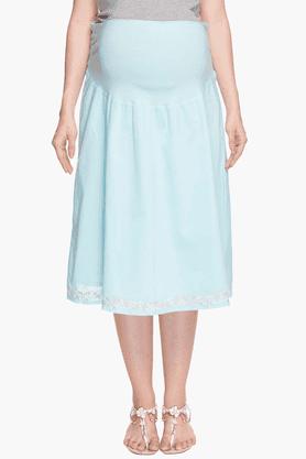 NINE MATERNITYWomens Solid Flared Skirt