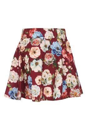 Girls Floral Print Skirt