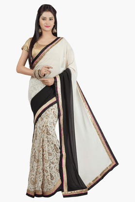 JASHN Womens Colour Block Saree