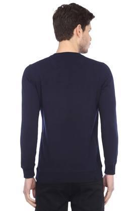 Mens Round Neck Patch Work Sweatshirt