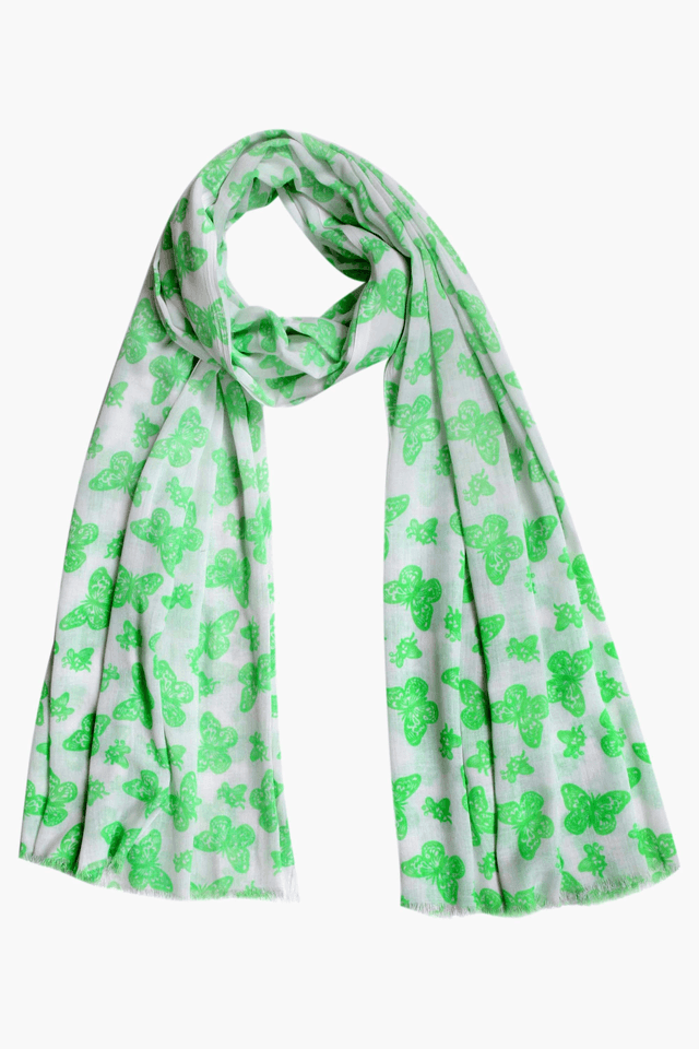 Womens Butterfly Print Stole