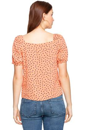 Womens Square Neck Polka dots Top