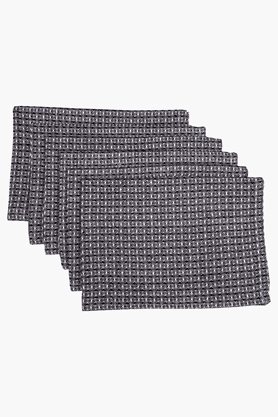MASPARWaffle Black Kitchen Towels - Set Of 6