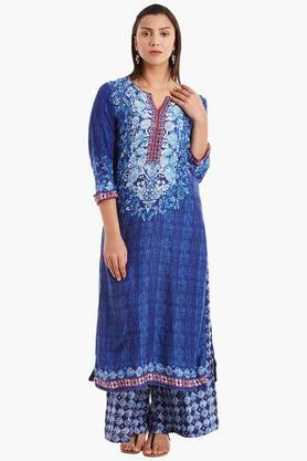 BIBA Womens Viscose Straight Kurta