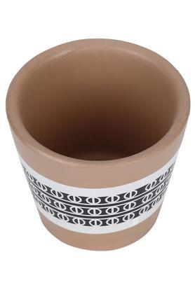 Round Printed Terracotta Mini Planter