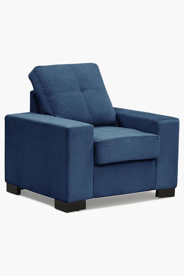Zafree Blue Fabric Sofa (Seater)