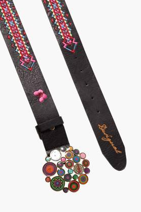 DESIGUAL Womens Embroidered Buckle Belt
