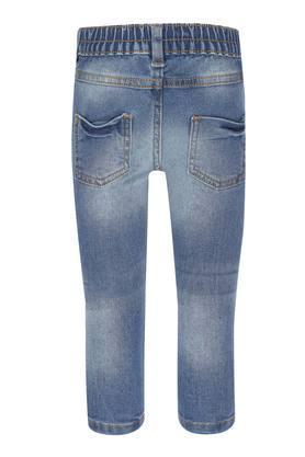 Girls 5 Pocket Mild Wash Embroidered Jeans