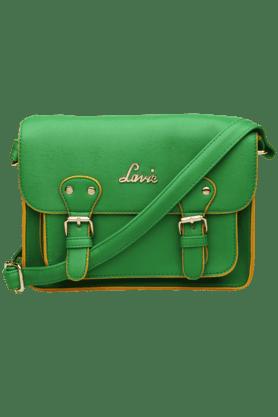 Womens Snap Closure Medium Sling Bag