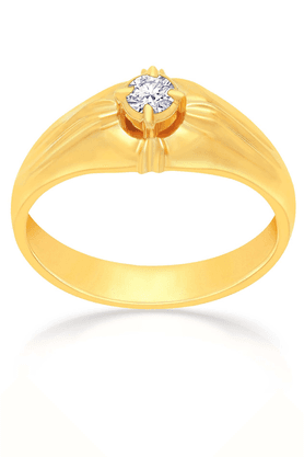 MALABAR GOLD AND DIAMONDS Mens Mine Diamond Ring - Size 18 - 201594486