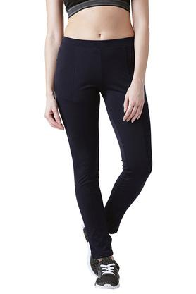 Womens Skinny Fit Solid Tights