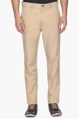U.S. POLO ASSN. Mens Slim Fit 5 Pocket Solid Chinos - 201922525