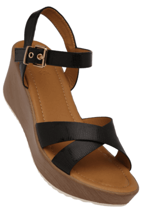 TRESMODE Womens Daily Wear Ankle Buckle Closure Wedge Sandal