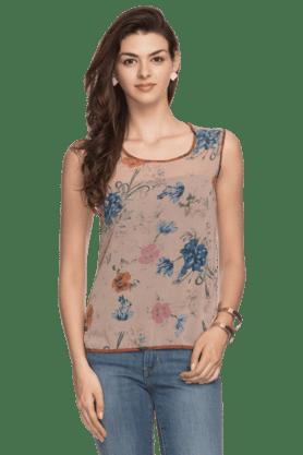 Womens Sleeveless Printed Top