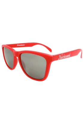 KNOCKAROUND Classic Premium Unisex Sunglasses Red/Smoke-PRGL1003 (Use Code FB20 To Get 20% Off On Purchase Of Rs.1800)