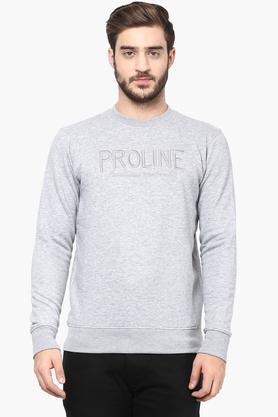 PROLINEMens Round Neck Solid Sweatshirt