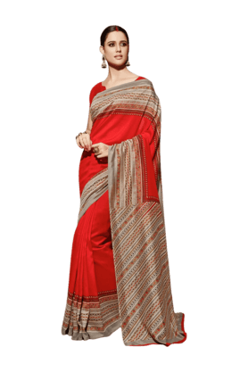 DEMARCA Women Art Silk Saree (Buy Any Demarca Product & Get A Pair Of Matching Earrings Free) - 200875573