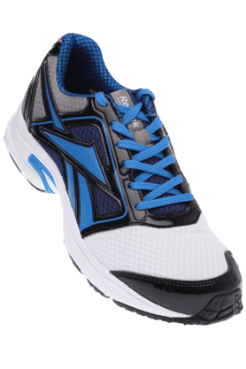 REEBOK Mens White Blue Sports Running Shoe