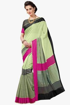 ASHIKA Womens Stripe Cotton Saree
