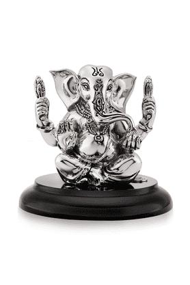 SHAZESilver Ganesha Idol
