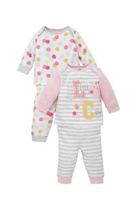 MOTHERCAREBaby Girls Little Cutie Pyjamas - Pack Of 2