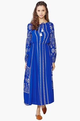 GLOBAL DESI Womens Printed Maxi Dress