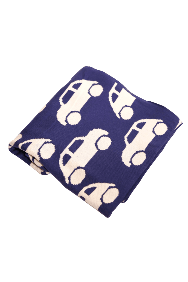 Cool Cars Marine Knitted Baby Blanket