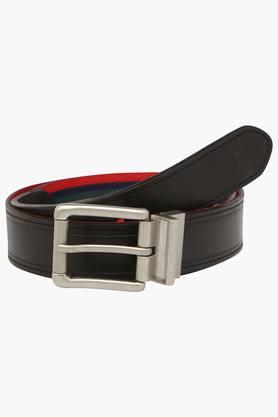 U.S. POLO ASSN. Mens Leather Buckle Closure Casual Belt  ... - 202132338