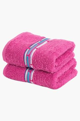 Cotton Solid Hand Towel Set of 2
