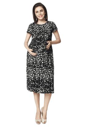 NINE MATERNITY Maternity Nursing Dot Printed Dress